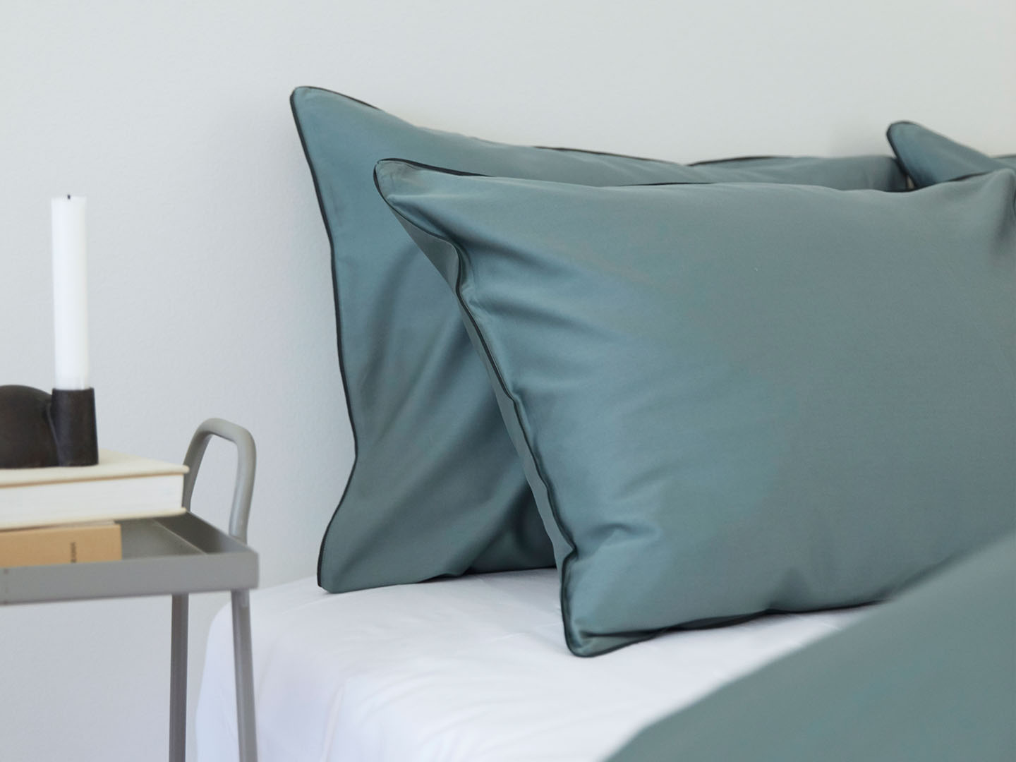 Pillowcase Strimma - Washed Bottle Green in the group Bedding / Pillowcases at A L V A (1047)