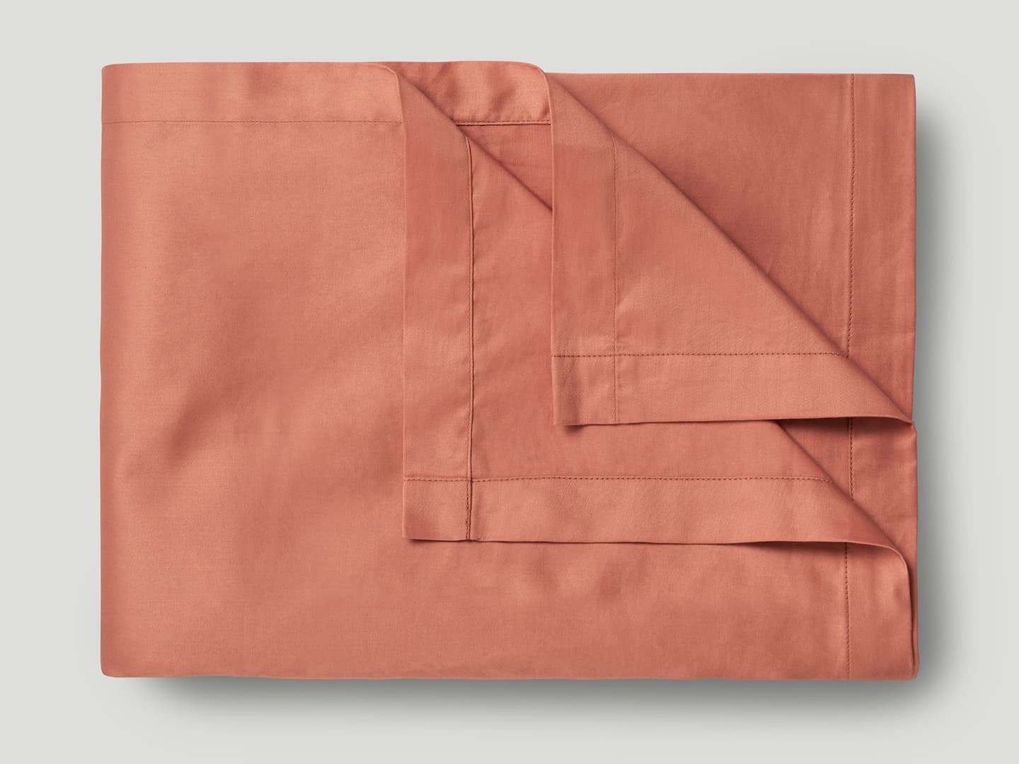 Flat Sheet Lind - Pink Terracotta in the group Bedding / Flat Sheets at A L V A (1109)