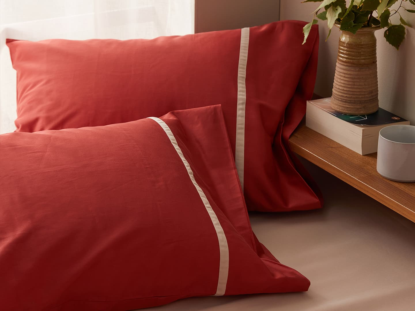 Pillowcase Gatt - Indian Red in the group Bedding / Pillowcases at A L V A (1119)