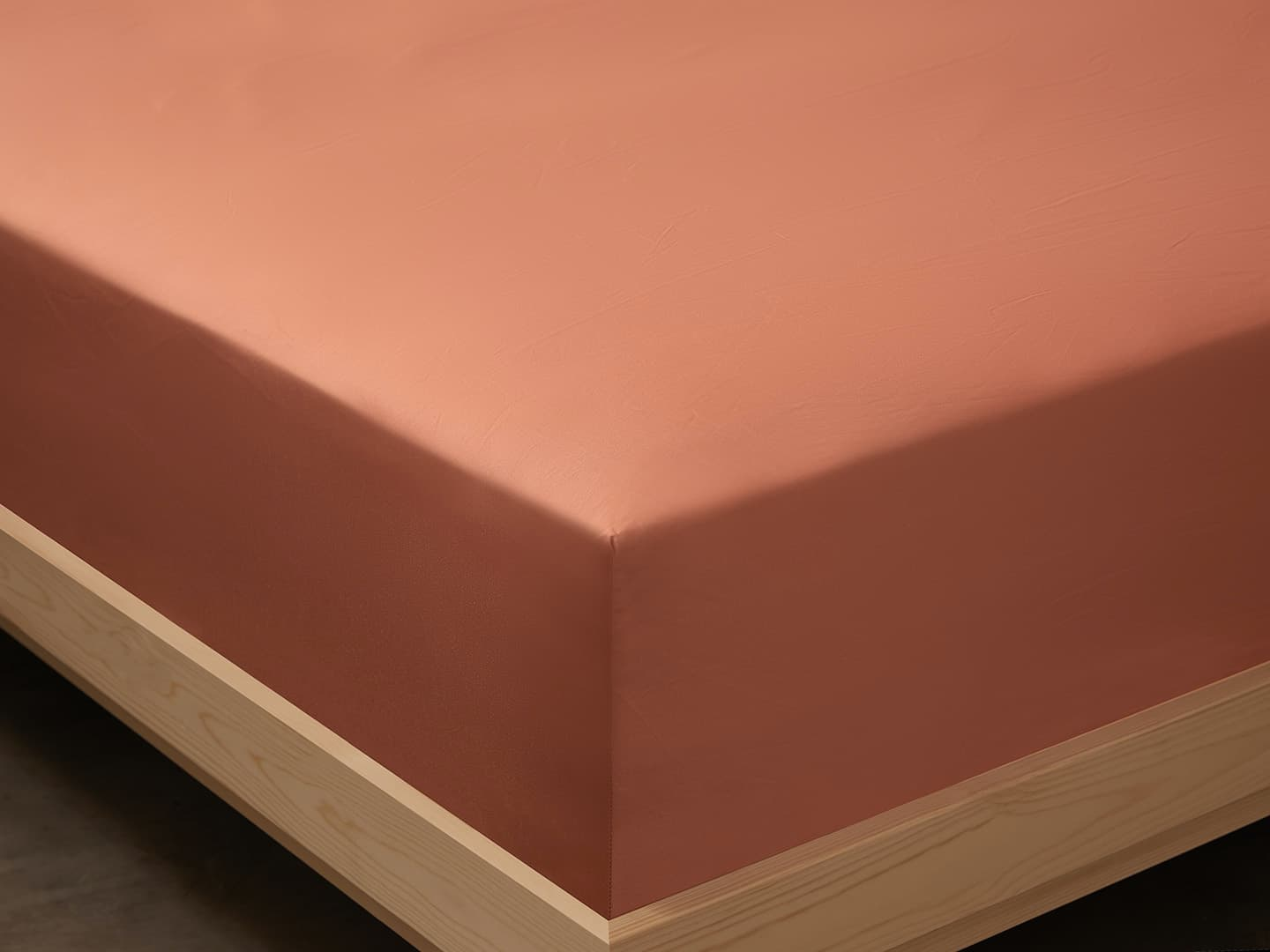Fitted Sheet Lind - Pink Terracotta in the group Bedding / Flat Sheets at A L V A (1135)