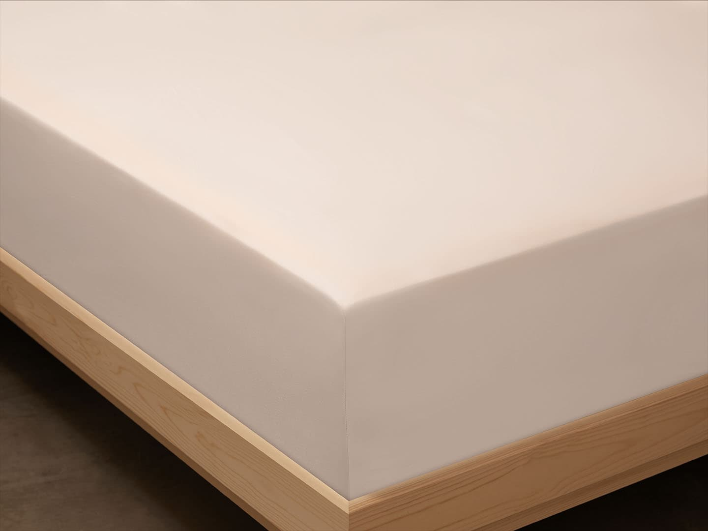 Fitted Sheet Lind - Seashell Beige in the group Bedding / Flat Sheets at A L V A (1137)