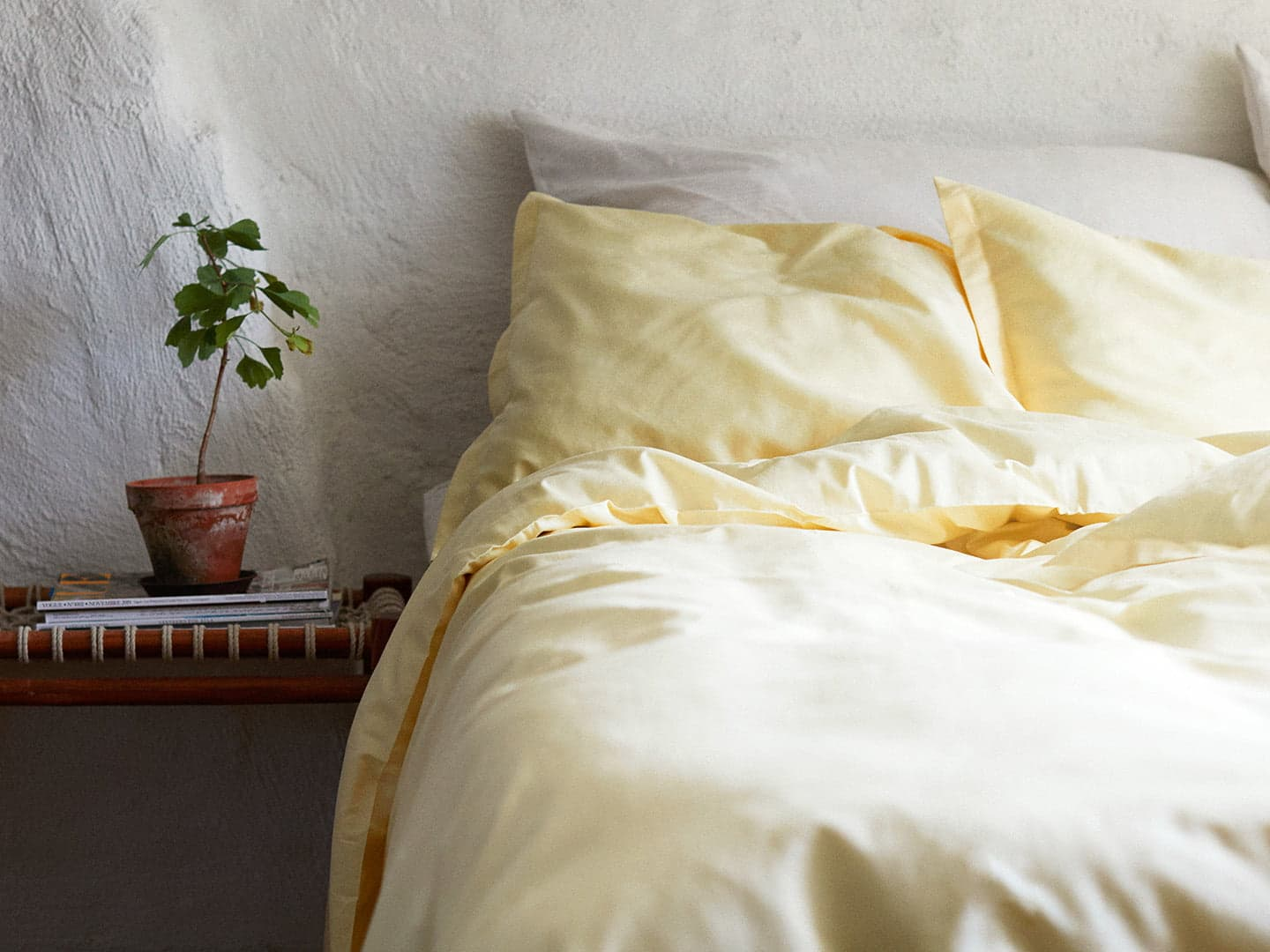 Duvet Cover Vidd - Lemonade Yellow in the group Bedding /  at A L V A (1160)