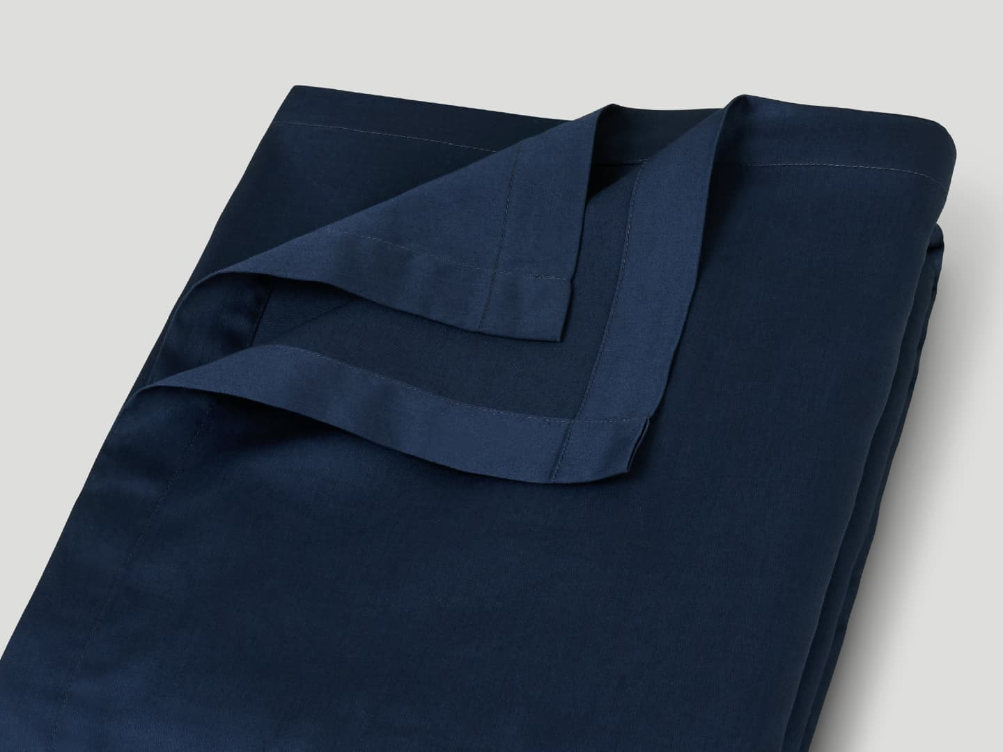 Flat Sheet Lind - Midnight Blue