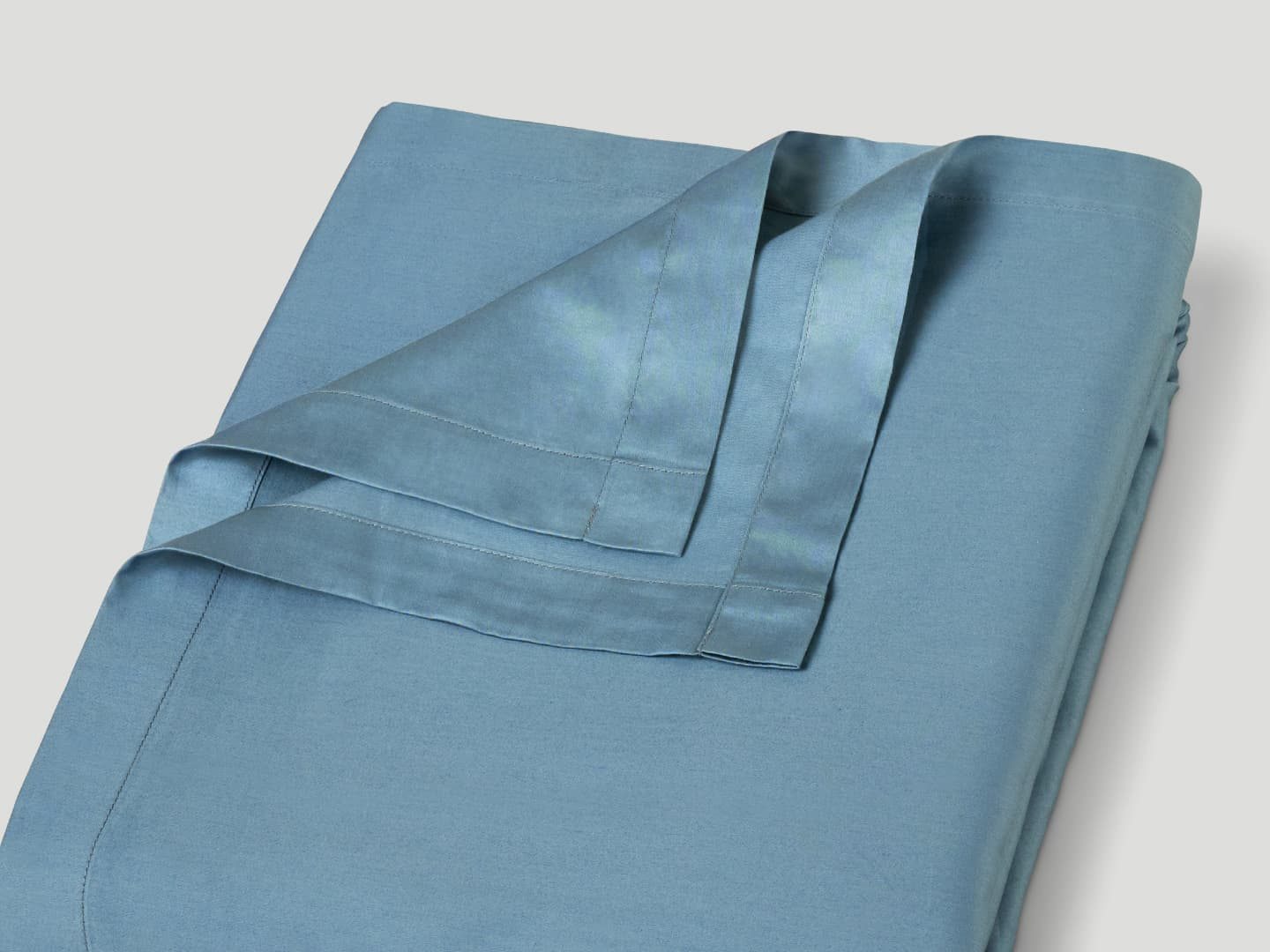 Flat Sheet Lind - North Sea Blue