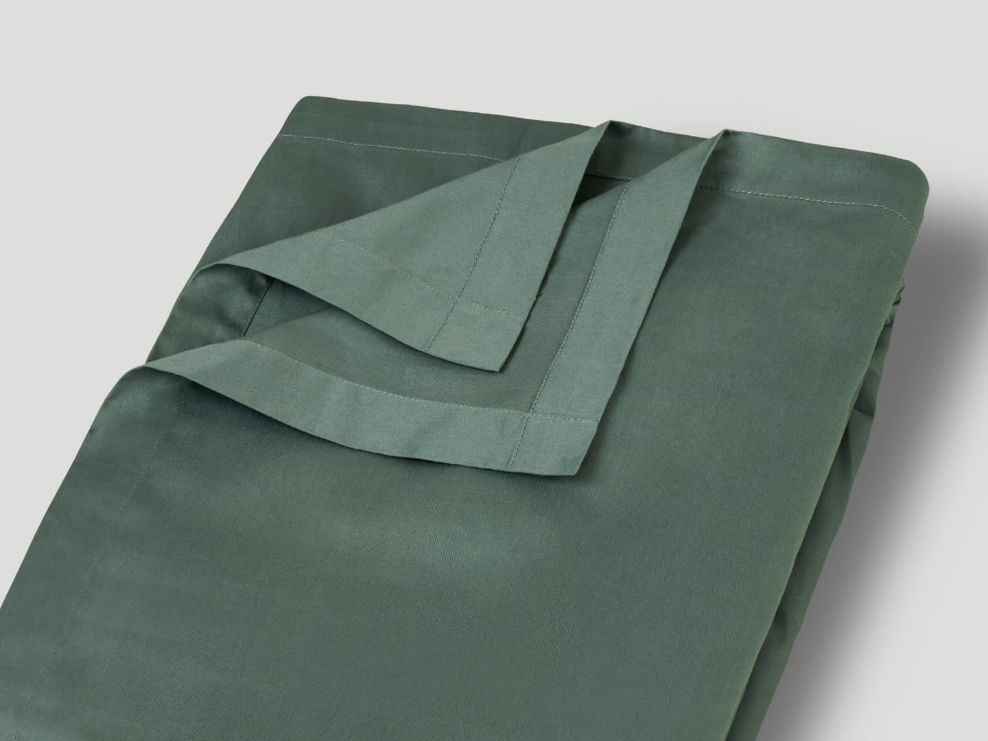 Flat Sheet Lind - Washed Bottle Green