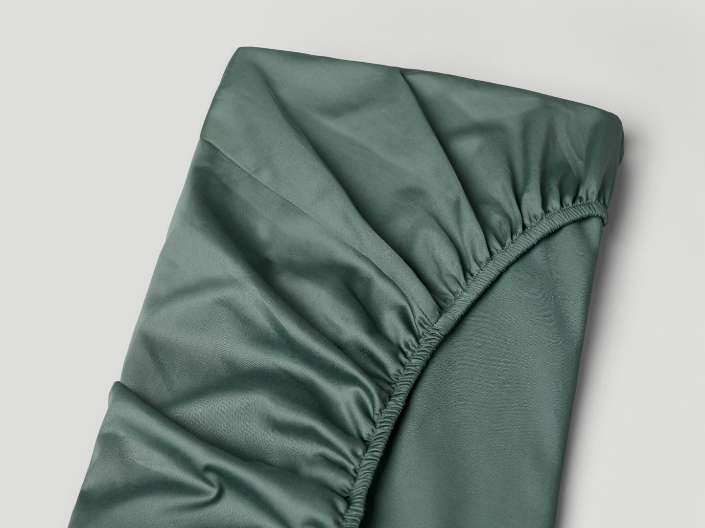 Fitted Sheet Lind - Washed Bottle Green