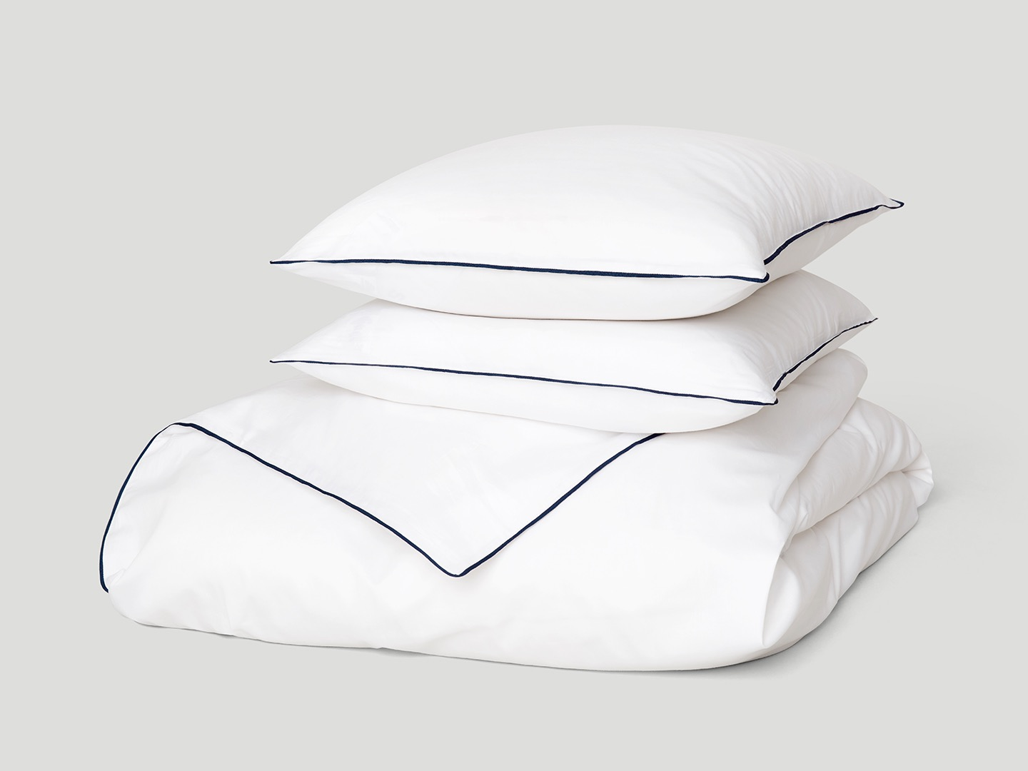 Duvet Cover Strimma - Cloud White