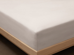 Fitted Sheet Lind - Pearl Grey
