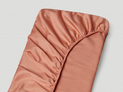 Fitted Sheet Lind - Pink Terracotta